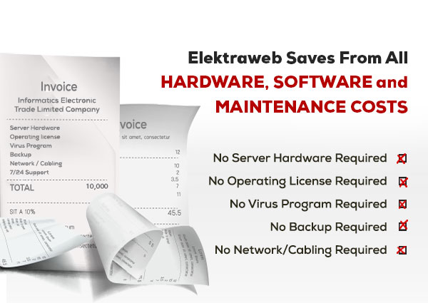 Elektraweb saves the hotel from all hardware, software and maintenance costs