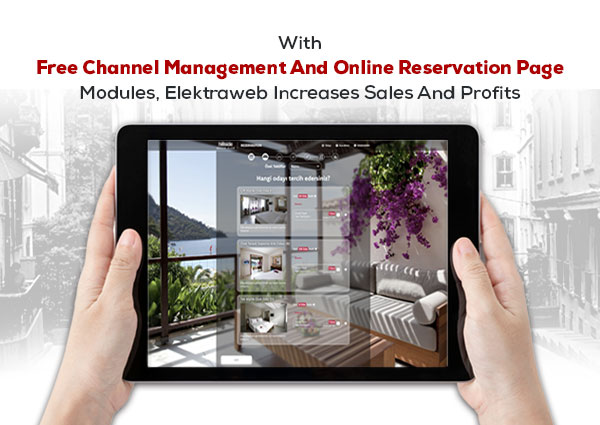 Channel management and online booking page with Elektraweb is free