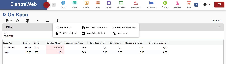 Otel Programı Ön Kasa-Elektraweb Otel Yönetim Sistemi & Otel Yazılımı