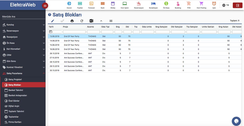 ElektraWeb Satış Blokları