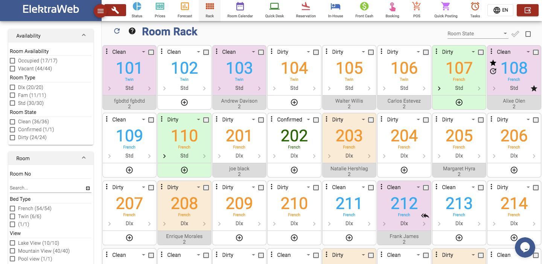 elektraweb hotel management software