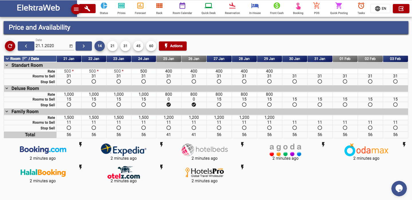 ElektraWeb hotel management software