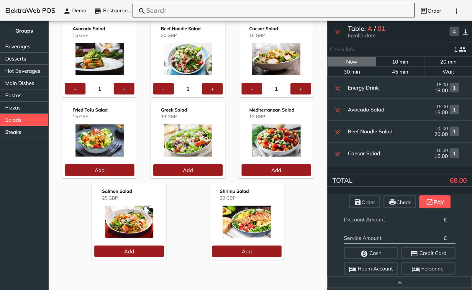 Web Based Pos Software- Hotel Management System and Hotel Program Restaurant Management Demo Screen