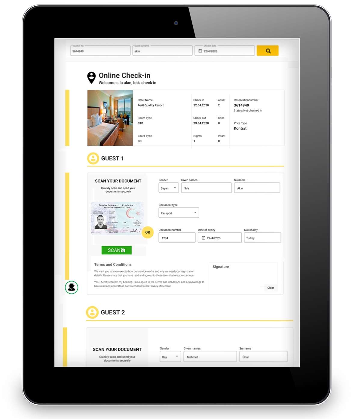 Hotel Management Software Online Check-in